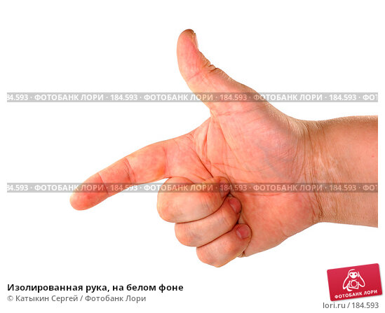 Изолированная рука, на белом фоне, фото № 184593, снято 16 декабря 2007 г. (c) Катыкин Сергей / Фотобанк Лори