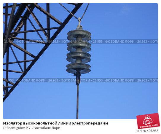 Изолятор высоковольтной линии электропередачи, фото № 26953, снято 24 марта 2007 г. (c) Shamigulov P.V. / Фотобанк Лори
