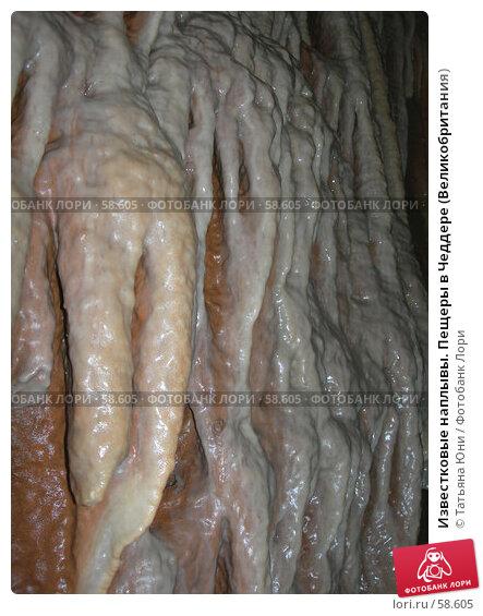 Известковые наплывы. Пещеры в Чеддере (Великобритания), эксклюзивное фото № 58605, снято 13 августа 2006 г. (c) Татьяна Юни / Фотобанк Лори