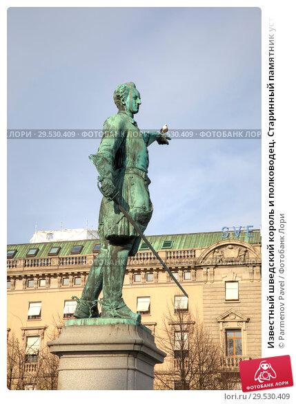 Купить «Известный шведский король и полководец. Старинный памятник установленный в 1868 году», фото № 29530409, снято 4 мая 2013 г. (c) Parmenov Pavel / Фотобанк Лори