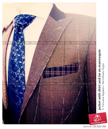 Купить «jacket with shirt and tie on mannequin», фото № 29920189, снято 20 июня 2017 г. (c) Татьяна Яцевич / Фотобанк Лори