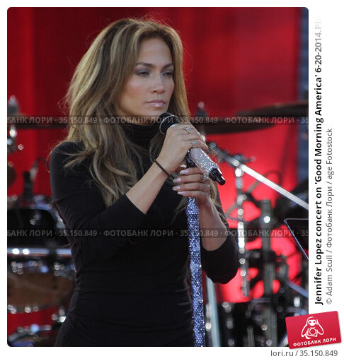 Jennifer Lopez concert on 'Good Morning America' 6-20-2014.Photo ... Редакционное фото, фотограф Adam Scull / age Fotostock / Фотобанк Лори