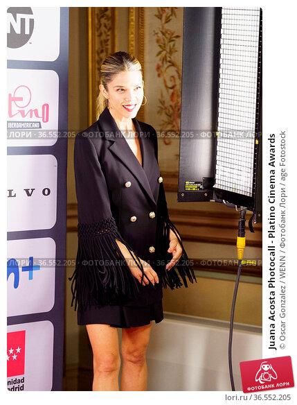 Juana Acosta Photocall - Platino Cinema Awards. Редакционное фото, фотограф Oscar Gonzalez / WENN / age Fotostock / Фотобанк Лори
