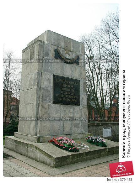 Купить «Калининград, монумент павшим героям», фото № 379453, снято 3 апреля 2008 г. (c) Рягузов Алексей / Фотобанк Лори