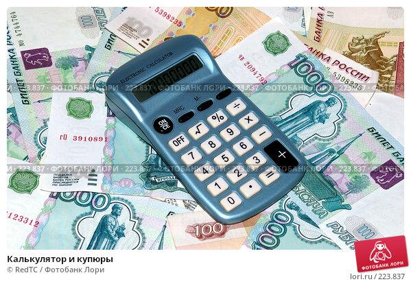 Купить «Калькулятор и купюры», фото № 223837, снято 15 марта 2008 г. (c) RedTC / Фотобанк Лори