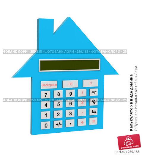 Купить «Калькулятор в виде домика», иллюстрация № 259185 (c) Лукиянова Наталья / Фотобанк Лори