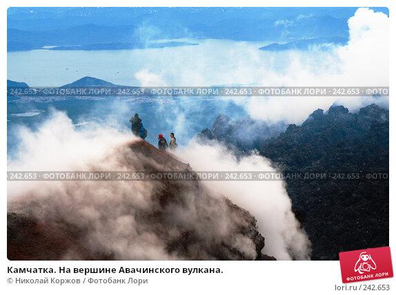 Камчатка. На вершине Авачинского вулкана., фото № 242653, снято 24 апреля 2017 г. (c) Николай Коржов / Фотобанк Лори