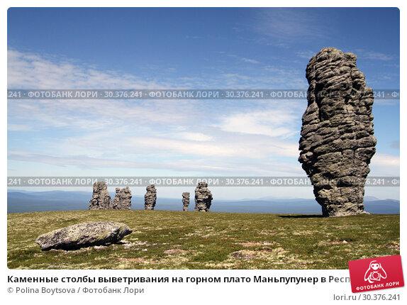 Купить «Каменные столбы выветривания на горном плато Маньпупунер в Республике Коми в России летом», фото № 30376241, снято 1 июля 2011 г. (c) Polina Boytsova / Фотобанк Лори