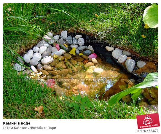 Камни в воде, фото № 62877, снято 17 июля 2007 г. (c) Тим Казаков / Фотобанк Лори