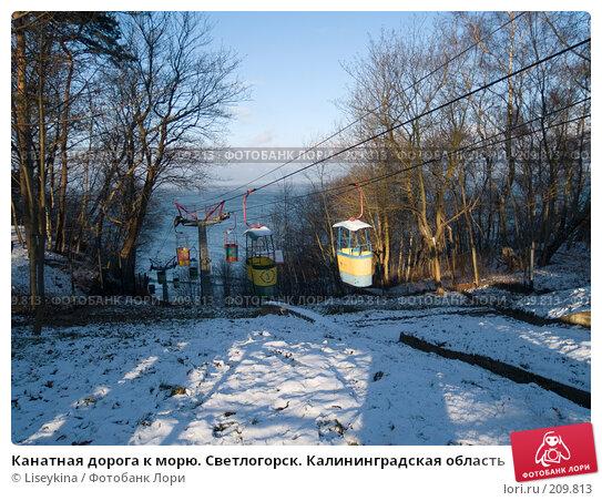 Канатная дорога к морю. Светлогорск. Калининградская область, фото № 209813, снято 4 января 2008 г. (c) Liseykina / Фотобанк Лори