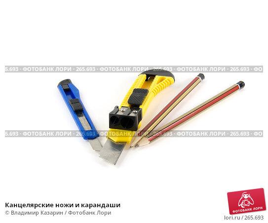 Купить «Канцелярские ножи и карандаши», фото № 265693, снято 23 апреля 2008 г. (c) Владимир Казарин / Фотобанк Лори