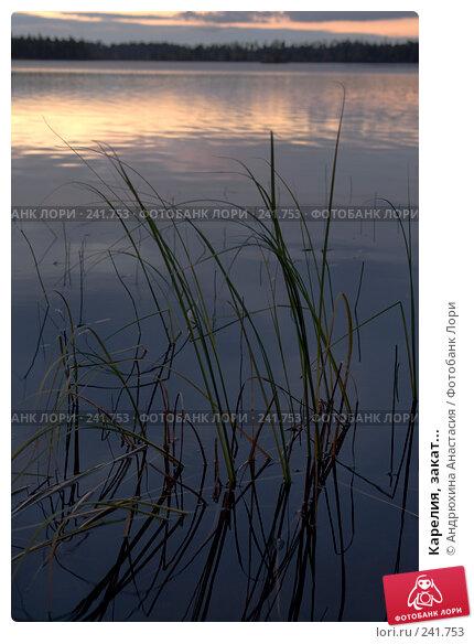 Карелия, закат..., фото № 241753, снято 16 сентября 2007 г. (c) Андрюхина Анастасия / Фотобанк Лори