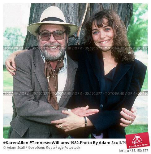 #KarenAllen #TenneseeWilliams 1982.Photo By Adam Scull/PHOTOlink.net.. Редакционное фото, фотограф Adam Scull / age Fotostock / Фотобанк Лори