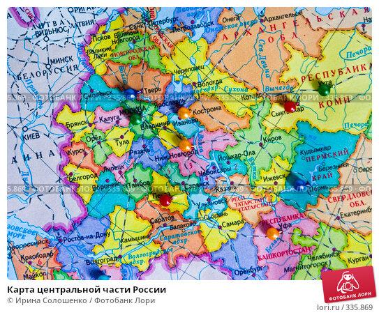Карта центральной части России, эксклюзивное фото № 335869, снято 24 июня 2008 г. (c) Ирина Солошенко / Фотобанк Лори