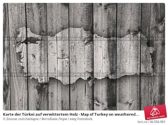 Karte der Türkei auf verwittertem Holz - Map of Turkey on weathered... Стоковое фото, фотограф Zoonar.com/lantapix / easy Fotostock / Фотобанк Лори