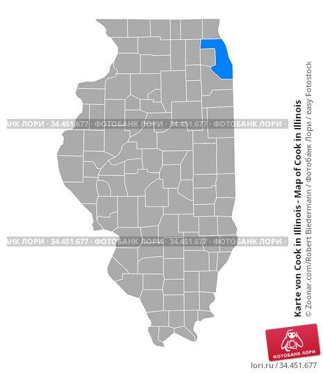 Karte von Cook in Illinois - Map of Cook in Illinois. Стоковое фото, фотограф Zoonar.com/Robert Biedermann / easy Fotostock / Фотобанк Лори