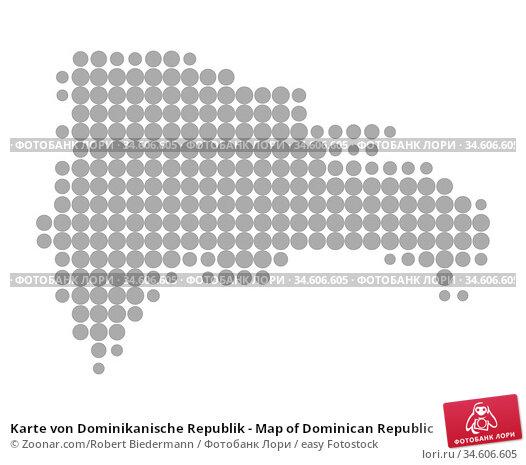 Karte von Dominikanische Republik - Map of Dominican Republic. Стоковое фото, фотограф Zoonar.com/Robert Biedermann / easy Fotostock / Фотобанк Лори