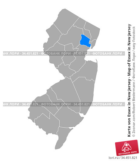 Karte von Essex in New Jersey - Map of Essex in New Jersey. Стоковое фото, фотограф Zoonar.com/Robert Biedermann / easy Fotostock / Фотобанк Лори
