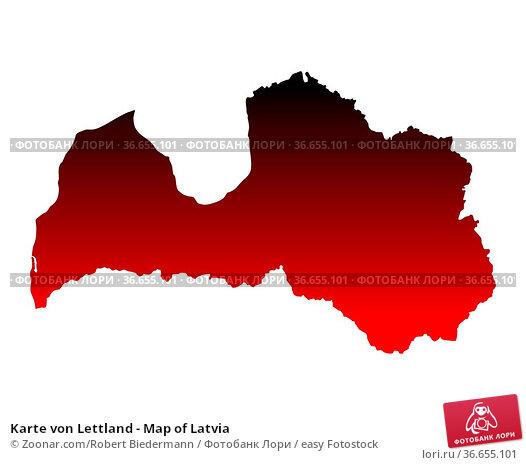 Karte von Lettland - Map of Latvia. Стоковое фото, фотограф Zoonar.com/Robert Biedermann / easy Fotostock / Фотобанк Лори