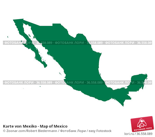 Karte von Mexiko - Map of Mexico. Стоковое фото, фотограф Zoonar.com/Robert Biedermann / easy Fotostock / Фотобанк Лори