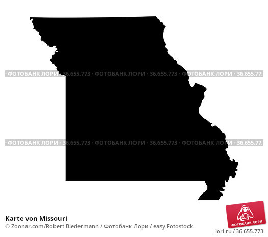 Karte von Missouri. Стоковое фото, фотограф Zoonar.com/Robert Biedermann / easy Fotostock / Фотобанк Лори
