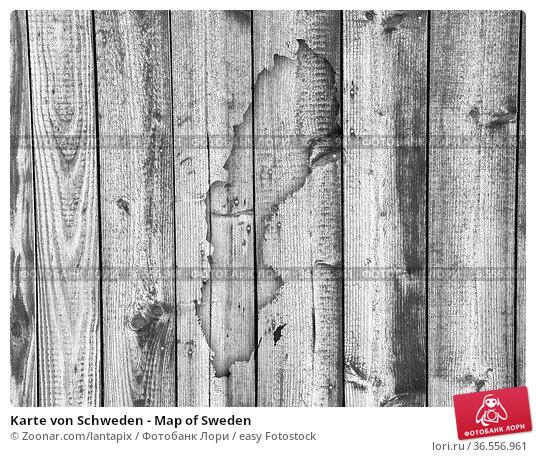 Karte von Schweden - Map of Sweden. Стоковое фото, фотограф Zoonar.com/lantapix / easy Fotostock / Фотобанк Лори
