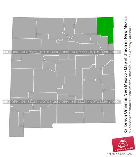 Karte von Union in New Mexico - Map of Union in New Mexico. Стоковое фото, фотограф Zoonar.com/Robert Biedermann / easy Fotostock / Фотобанк Лори