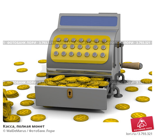 Купить «Касса, полная монет», иллюстрация № 3793321 (c) WalDeMarus / Фотобанк Лори