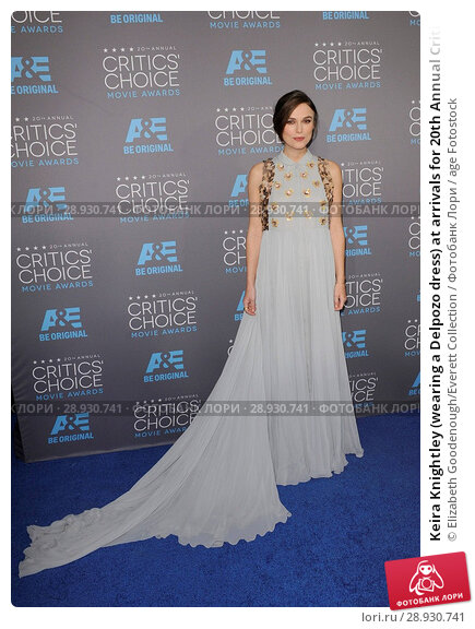 Купить «Keira Knightley (wearing a Delpozo dress) at arrivals for 20th Annual Critics' Choice Movie Awards, The Hollywood Palladium, Los Angeles, CA January 15...», фото № 28930741, снято 22 августа 2018 г. (c) age Fotostock / Фотобанк Лори