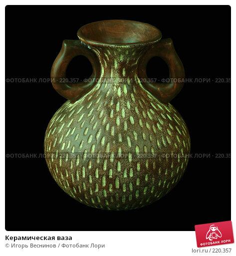 Керамическая ваза, фото № 220357, снято 8 марта 2008 г. (c) Игорь Веснинов / Фотобанк Лори