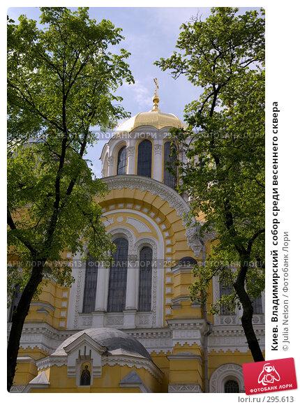 Киев. Владимирский  собор среди весеннего сквера, фото № 295613, снято 3 мая 2008 г. (c) Julia Nelson / Фотобанк Лори
