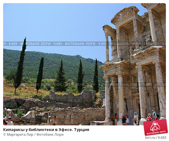 Кипарисы у библиотеки в Эфесе. Турция, фото № 9693, снято 9 июля 2006 г. (c) Маргарита Лир / Фотобанк Лори