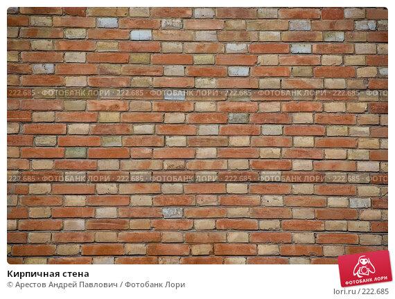 Кирпичная стена, фото № 222685, снято 9 марта 2008 г. (c) Арестов Андрей Павлович / Фотобанк Лори