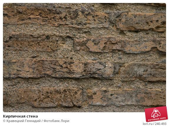 Купить «Кирпичная стена», фото № 240493, снято 22 апреля 2018 г. (c) Кравецкий Геннадий / Фотобанк Лори