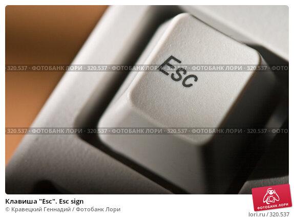 """Клавиша """"Esc"""". Esc sign, фото № 320537, снято 13 мая 2004 г. (c) Кравецкий Геннадий / Фотобанк Лори"""