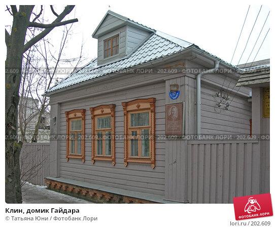 Клин, домик Гайдара, эксклюзивное фото № 202609, снято 9 февраля 2008 г. (c) Татьяна Юни / Фотобанк Лори