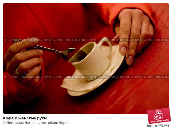 Кофе и женские руки, фото № 75981, снято 1 марта 2006 г. (c) Лисовская Наталья / Фотобанк Лори