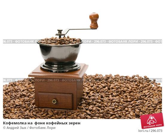 Кофемолка на  фоне кофейных зерен, фото № 296073, снято 12 мая 2007 г. (c) Андрей Зык / Фотобанк Лори