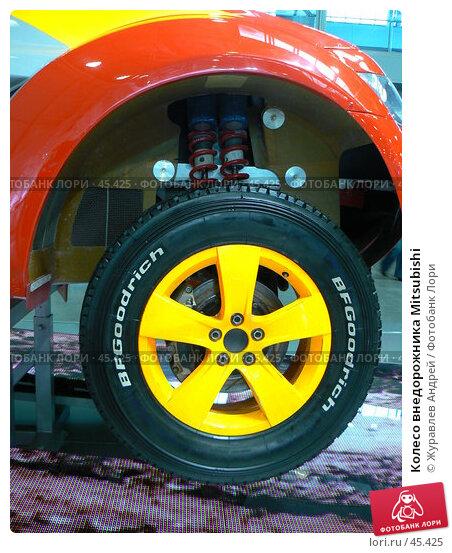 Купить «Колесо внедорожника Mitsubishi», фото № 45425, снято 19 мая 2007 г. (c) Журавлев Андрей / Фотобанк Лори