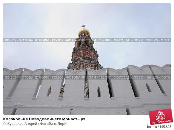 Колокольня Новодевичьего монастыря, эксклюзивное фото № 195805, снято 27 января 2008 г. (c) Журавлев Андрей / Фотобанк Лори