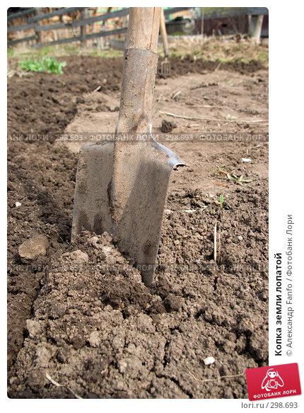 Копка земли лопатой, фото № 298693, снято 30 мая 2017 г. (c) Александр Fanfo / Фотобанк Лори