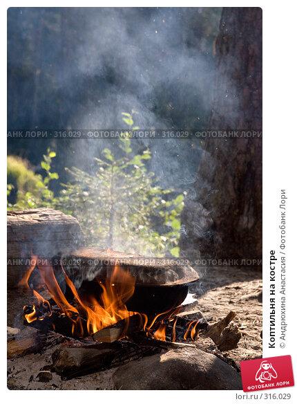 Купить «Коптильня на костре», фото № 316029, снято 16 августа 2007 г. (c) Андрюхина Анастасия / Фотобанк Лори