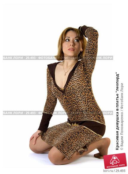 """Красивая девушка в платье """"леопард"""", фото № 29493, снято 24 марта 2007 г. (c) Вадим Пономаренко / Фотобанк Лори"""