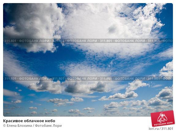 Купить «Красивое облачное небо», фото № 311801, снято 2 июня 2008 г. (c) Елена Блохина / Фотобанк Лори