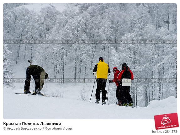Красная Поляна. Лыжники, фото № 284573, снято 28 января 2006 г. (c) Андрей Бондаренко / Фотобанк Лори