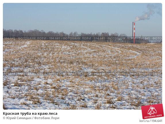 Красная труба на краю леса, фото № 194641, снято 8 января 2008 г. (c) Юрий Синицын / Фотобанк Лори