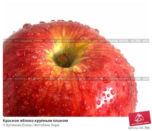 Красное яблоко крупным планом, фото № 41789, снято 4 апреля 2007 г. (c) Бутинова Елена / Фотобанк Лори