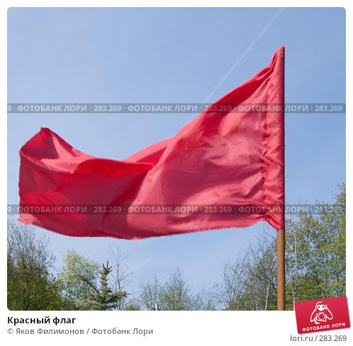 Красный флаг, фото № 283269, снято 9 мая 2008 г. (c) Яков Филимонов / Фотобанк Лори