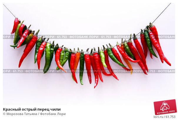 Купить «Красный острый перец чили», фото № 61753, снято 10 июня 2007 г. (c) Морозова Татьяна / Фотобанк Лори