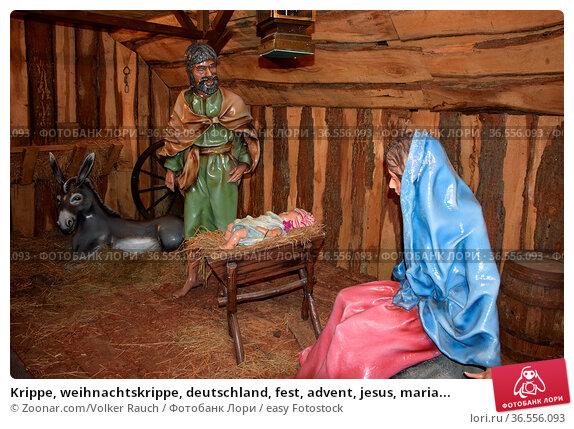 Krippe, weihnachtskrippe, deutschland, fest, advent, jesus, maria... Стоковое фото, фотограф Zoonar.com/Volker Rauch / easy Fotostock / Фотобанк Лори